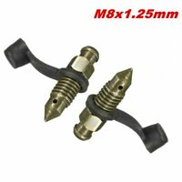 2x Motorcycle Bike brake caliper 8mm steel bleed screw nipple for