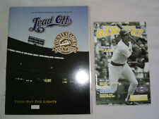 More details for milwaukee brewers 2000 yearbook magazine & 2007 gameday magazine v astros