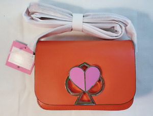 NWT Kate Spade Small Nicola Twist Lock Flap Shoulder Orange Purse PXRUA245 $348