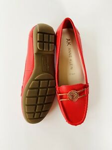 Anne Klein Loafers Red New Size 5.5
