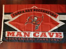 Tampa Bay Buccaneers Man Cave 3x5 Flag. US seller. Free shipping within the US