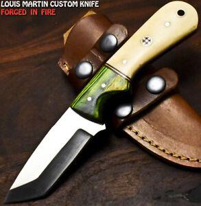 Louis Martin Handmade D2 Tool Steel Camel Bone Hunting Skinner Knife