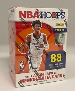 2020-21 Panini NBA Hoops Basketball Unopened Factory Sealed Blaster Box