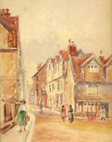 Robert J. Gedge, St Benedict's Plain, Norwich – Early 20th-century watercolour