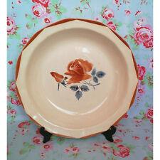 Grand Plat Creux Digoin Sarreguemines Vaisselle Ancienne Rose Pochoir Faience
