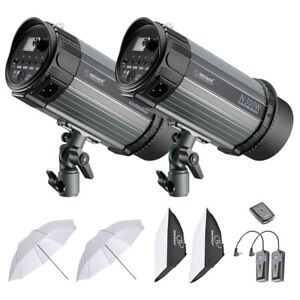 Neewer 600W Studio Strobe Flash Photography Lighting Kit 300W Monolight/Softbox