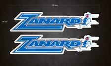 2 x 200mm x 44mm ZANARDI Stickers/Decals - Karting - Go-Kart