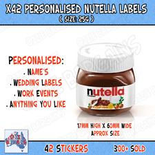 X42 Nutella - Personalised Nutella Labels - Make your own label - 25g -