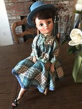 Vintage Dollikin Uneeda Doll 19 Inches multi Jointed Doll With Vintage Dress