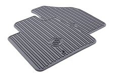 22890385 Frt. All Weather Mats for 08-15 Buick Enclave with Logo by Buick Grey