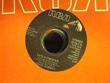 "EDDIE RABBITT We Must Be Doin' Somethin' Right/He's A Cheater 7"" 45 country"