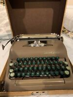 Smith Corona Sterling Manual Typewriter Brown With Case Vintage EUC