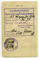 1940 JUN 17 MEMEL NAZI OCCUPATION REVENUE LITHUANIA KLAIPEDA