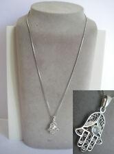 joli collier main de fatma fatima serti / 3gr ARGENT massif 925 N°267 silver