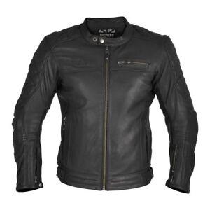 Oxford Route 73 Men's Leather Motorbike Motorcycle Jacket - Black