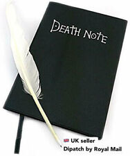 Cosplay Death Note Book Diary Notebook with feather Pen Light *STOCK IN UK*