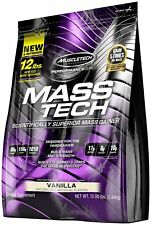 MuscleTech Mass Tech Scientifically Superior Weight Gain Vanilla 12lbs Free Ship
