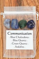 Communication Crystal Gift Set Blue Chalcedony Blue Quartz Green Quartz Sodalite
