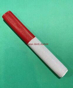1 X OCTOPUS WHITE + RED COMBO PREMIUM Grade Grip for Cricket Bat