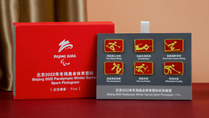 6pcs 2022 BeiJing Olympic Paralympic Sports Icon Pins Set
