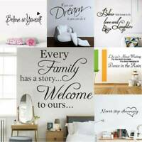 Family Quote Removable Wall Sticker Art Vinyl Decal Mural Home Bedroom Decor DIY