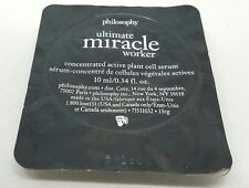 PHILOSOPHY ULTIMATE MIRACLE WORKER CONCENTRATED PLANT CELL SERUM .34 OZ SEALED!