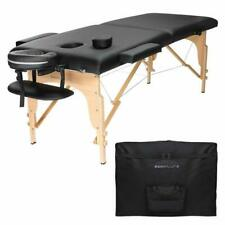 Professional Portable Folding Massage Table With Carrying Case - Black