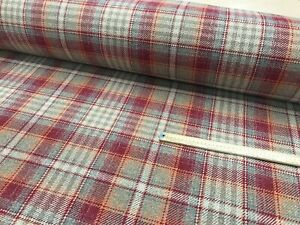 WOOL EFFECT  TARTAN FABRIC UPHOLSTERY NEXT TWEEDY DESIGN MATERIAL 140CMS WIDE