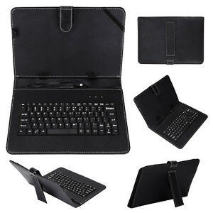 "Keyboard and leather case 2 in 1 With Suitable for 10"" inch Android Tablet Black"
