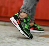 Nike Air Max 90 WW World Wide Shoes Flash Crimson CK6474-001 Mens NEW