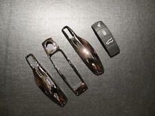 Replacement Gun M Key Case Trim + BK 3 Button Pad Rubber for Porsche Cayenne 92A
