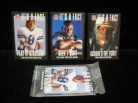 "1994 Troy Aikman Emmitt Smith Dan Marino ""Its a Fact"" 3ct Set Sealed #1,#2,#3"
