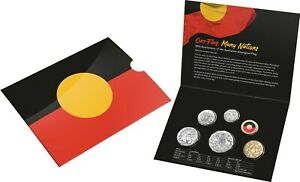 Australia 2021 six coin Mint  year set with Aboriginal Flag  $2 coin....    . hb