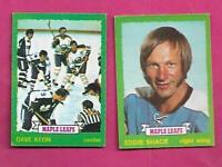 1973-74 OPC LEAFS DAVE KEON + EDDIE SHACK   CARD (INV# C1379)