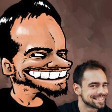 Custom Personalized Caricature Portrait Manga Styled Drawing Cartoon Comics