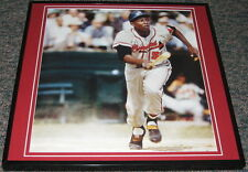 Hank Aaron 1957 Braves Framed 12x12 Poster Photo