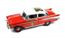 CHEVROLET BEL AIR SEDAN 1957 FIRE CHIEF HIGHWAY 61 50902 1:18 NEW PEOSTA IA