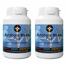 STRONGEST ANABOLIC MASS SUPPLEMENT 180 capsules Non Steroid excellent Gains