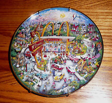 "Franklin Mint McDonald's Porcelain Plate ""Golden Moments "" 1980 Limited Edition"