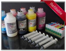 Refillable Starter kit for Epson R2000 159 T159120 -T159020 Kingfisher cartridge