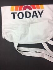 NBC TODAY TV Show Canvas Material  Tote Bag Creme & Orange Travel Carry All