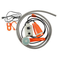Portable Outdoor Shower Usb Rechargeable Camping Water Pump Shower W1K6