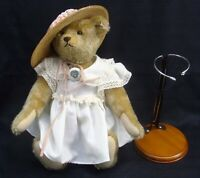 "2005 STEIFF LIMITED EDITION 130/2005 PANSY GROWLER JOINTED TEDDY BEAR 13"" STAND"