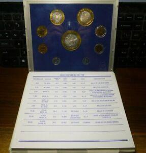 1995 Mint Set Mexico Bimetallic Silver Peso Centavos Coin Box & COA