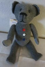 """Handmade Teddy Bear from Vtg.Us Milltary Blanket,Articulated Arms And Legs 12"""""""