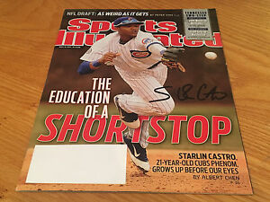Starlin Castro Handsigned New York Yankees Chicago Cubs Sports Illustrated COA