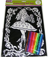 5 pictures Pack N Battle Royale Velvet colouring cards 2 x 10 Fibre art pens