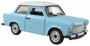 Trabant 601 Bleu/Blanc Welly Modèle Auto 1:24