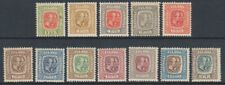 Iceland - 1907/8, 1e - 2k part set of stamps - M/M - SG 81/3, 85/6, 88/94