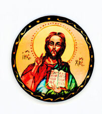 Russian Handpainted Brooches of Religous Saints_brooch_02, Jesus Christ